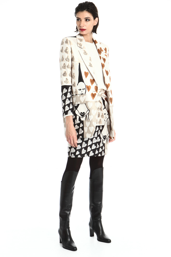 Patterned blazer Intrend