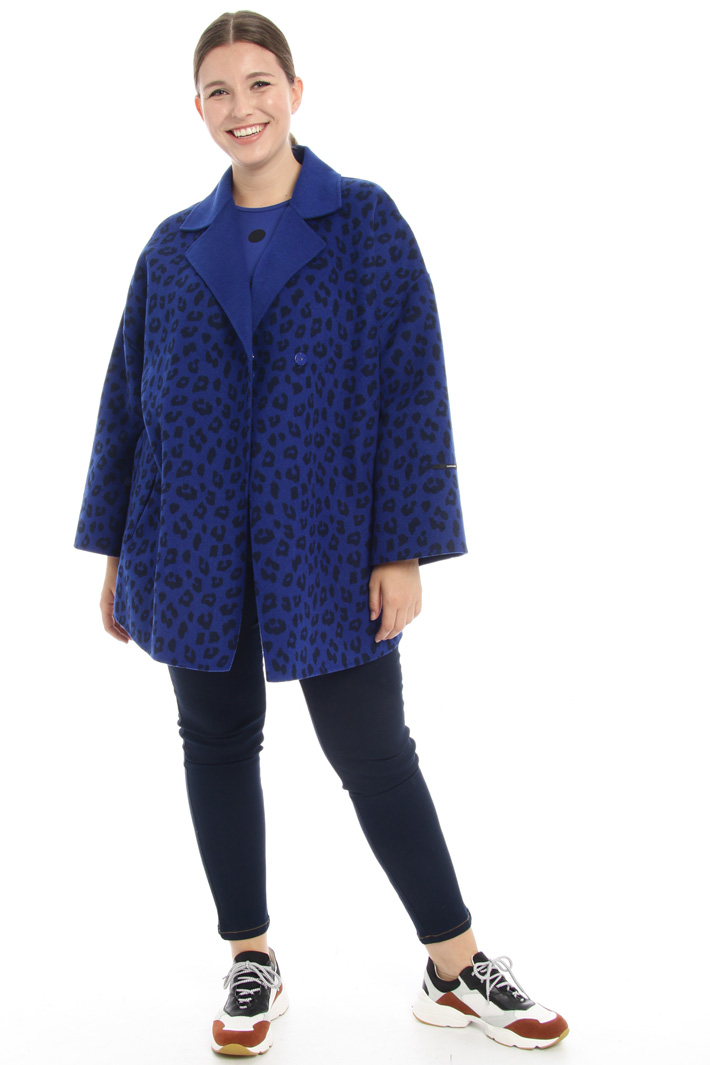Coat in double wool blend Intrend