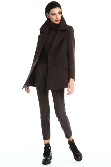 Cashmere and camel pea coat Intrend