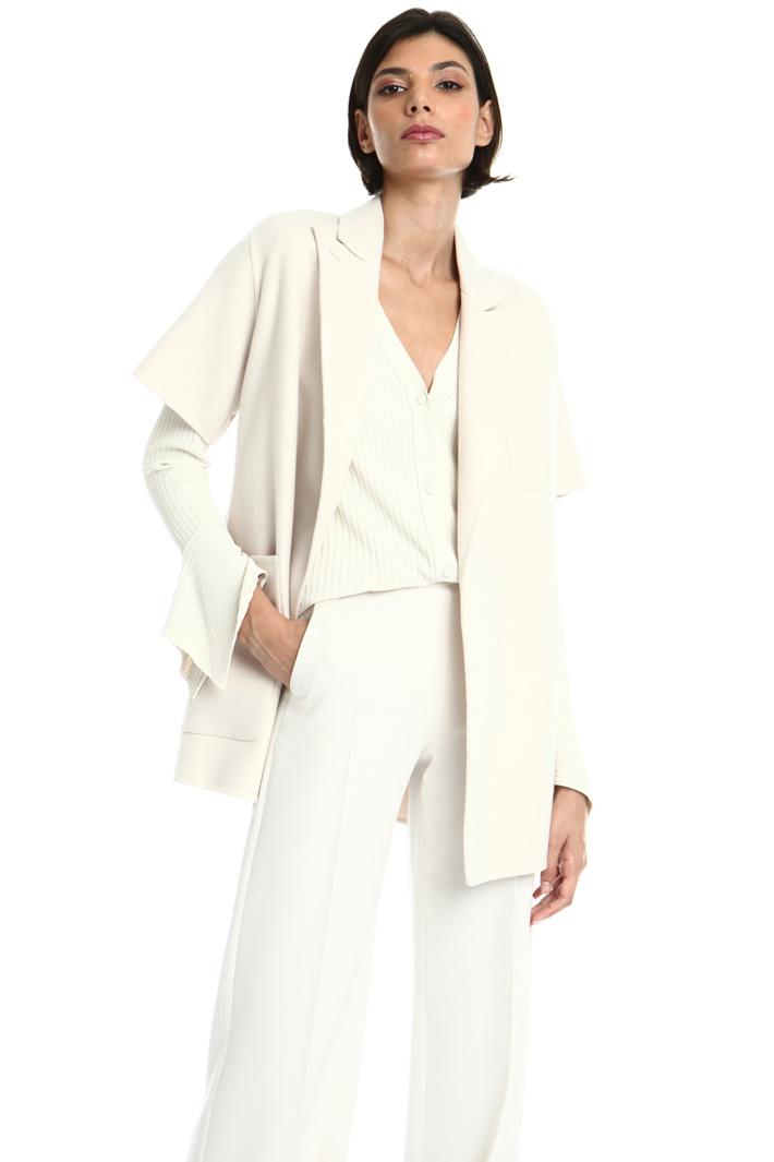 Short sleeved cashmere jacket Intrend