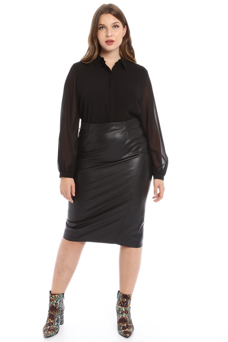 Faux leather midi skirt Intrend