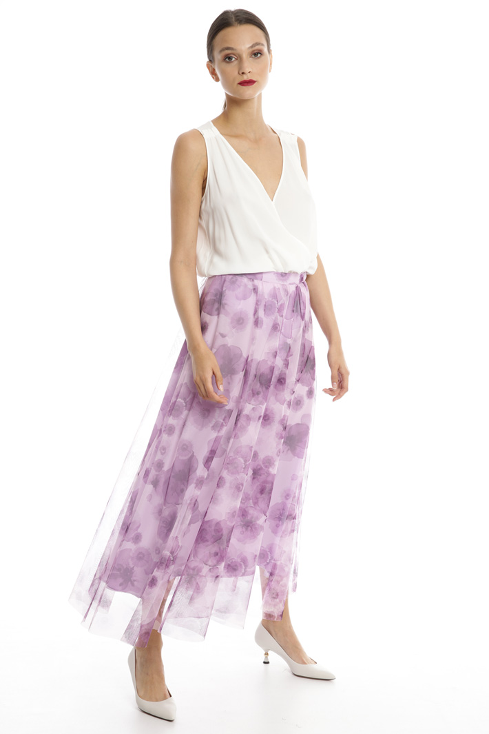 Plated tulle skirt Intrend