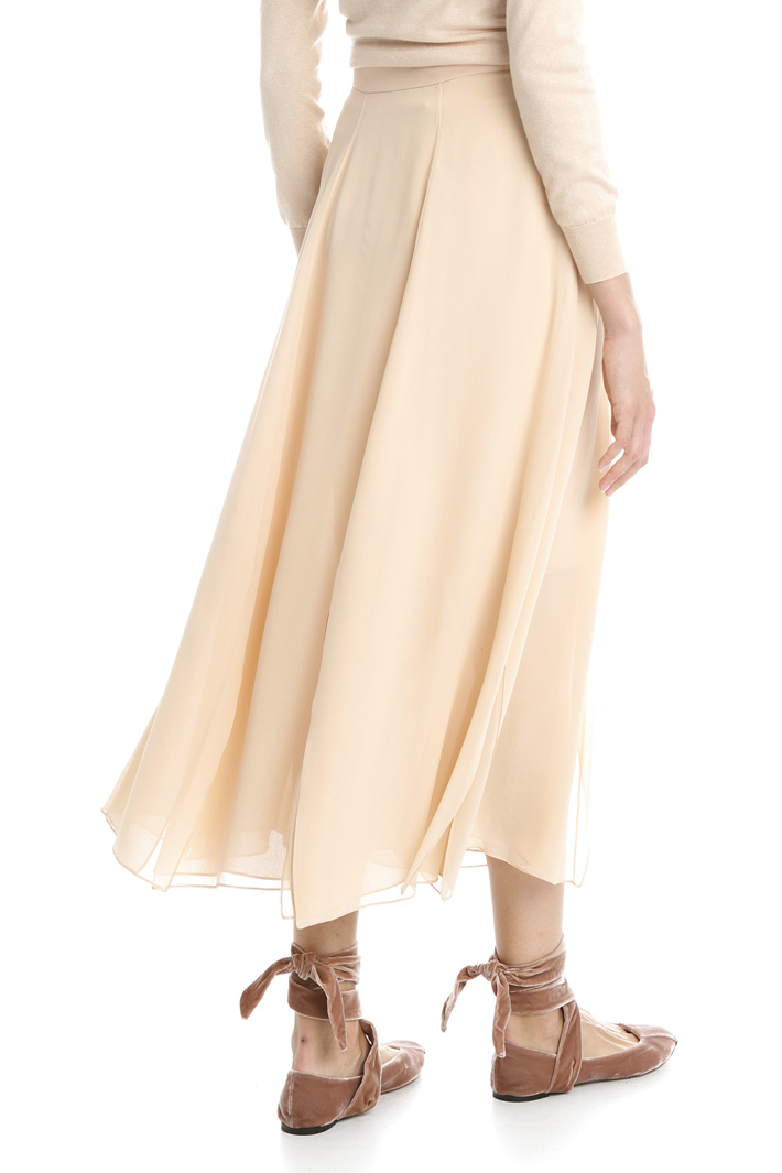 Silk georgette skirt Intrend