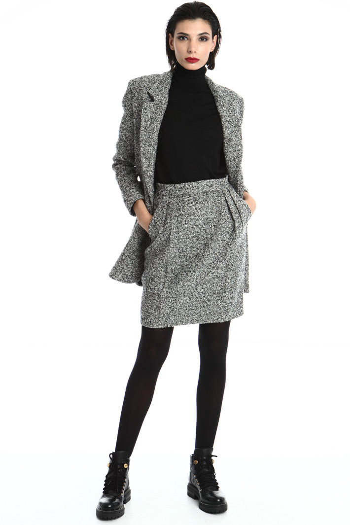 Wool tweed skirt Intrend