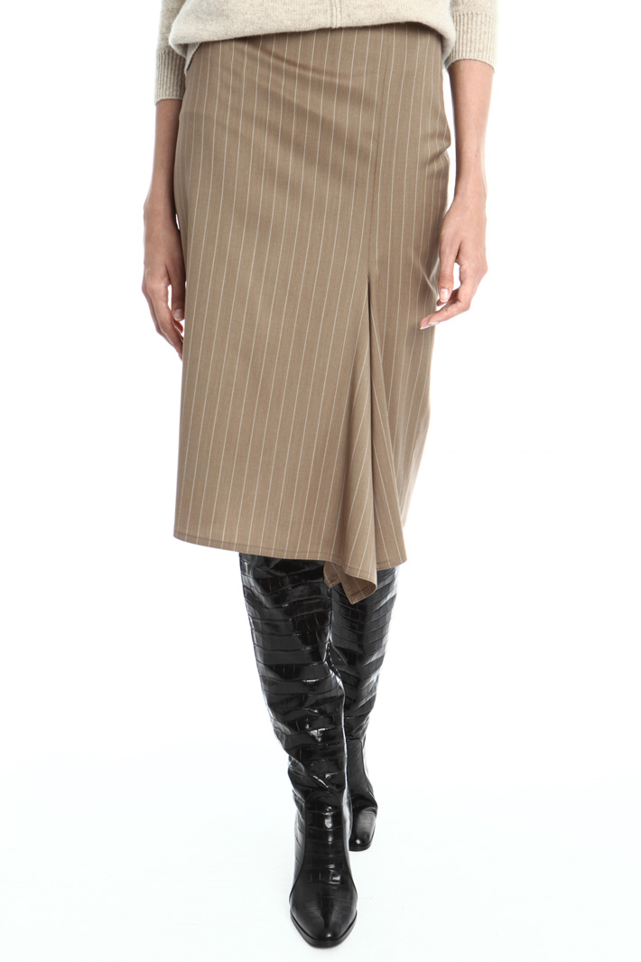 Flounced wool skirt Intrend