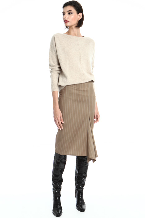 Flounced wool skirt Intrend