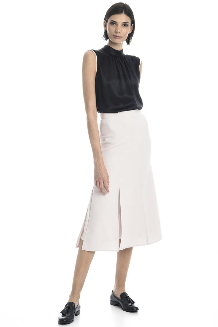 Wool crepe skirt Intrend