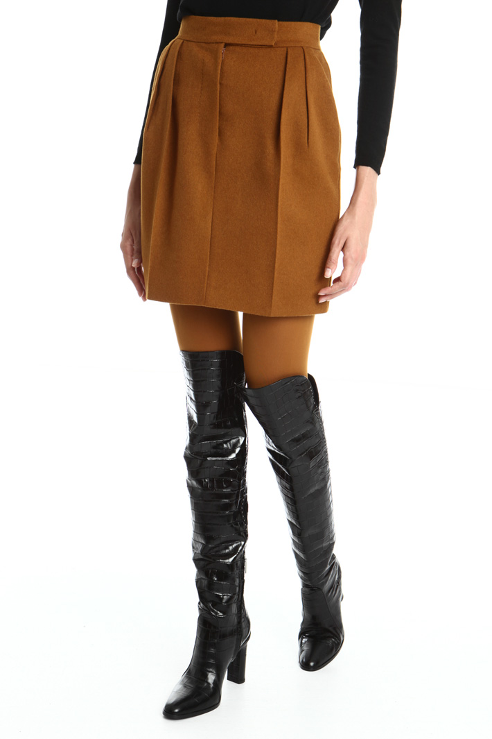 Lined camel skirt Intrend