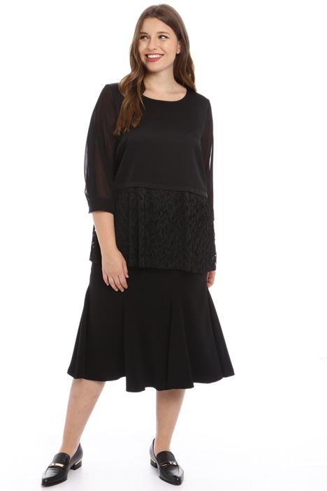 Pleated lace tunic Intrend