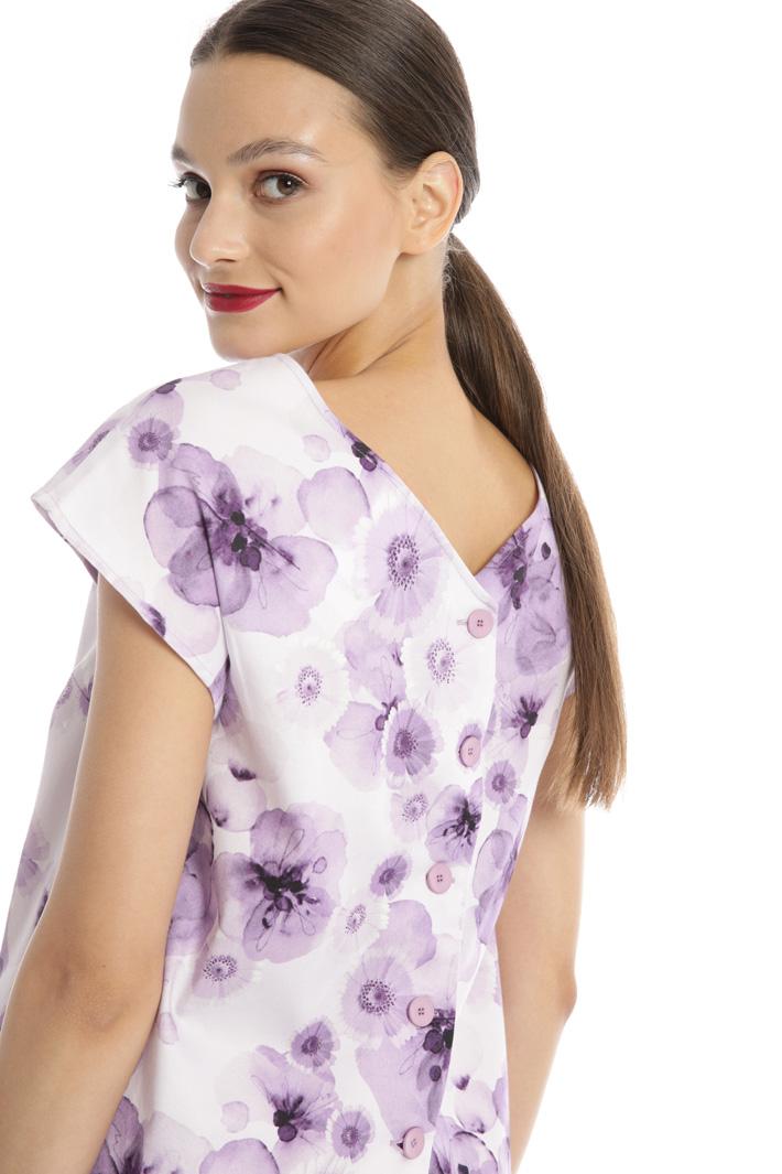 Back V-neck cotton top Intrend