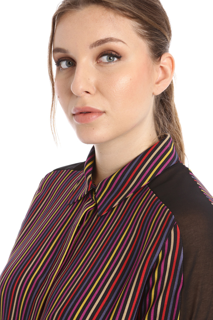 Printed cady shirt Intrend