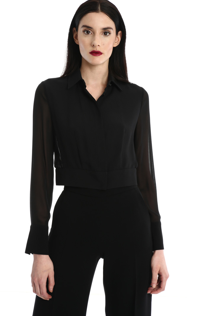 Cady and georgette shirt Intrend