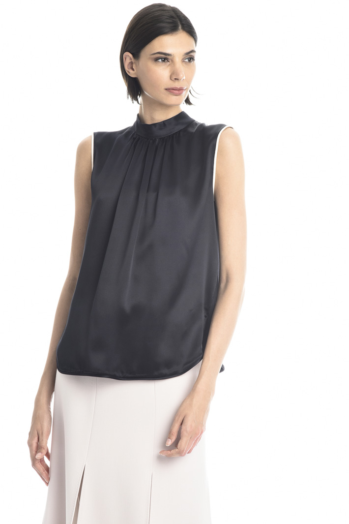 Silk satin and jersey top Intrend