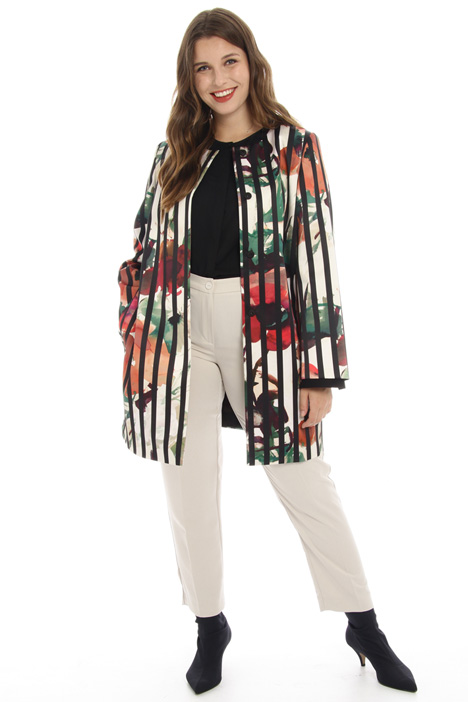 Printed satin duster coat Intrend