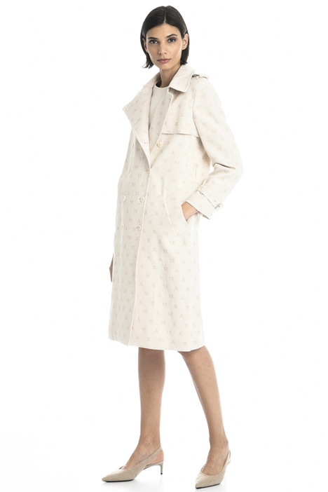 Jacquard trench coat Intrend