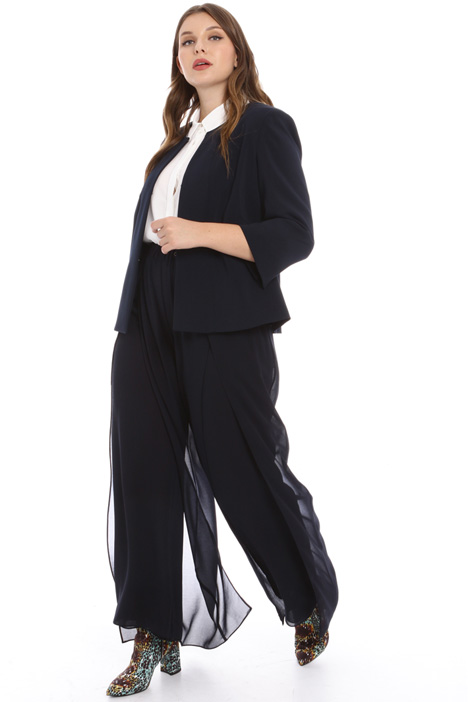 Wide-leg georgette trousers Intrend
