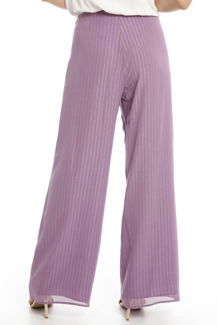 Pantaloni a palazzo con lamé Intrend