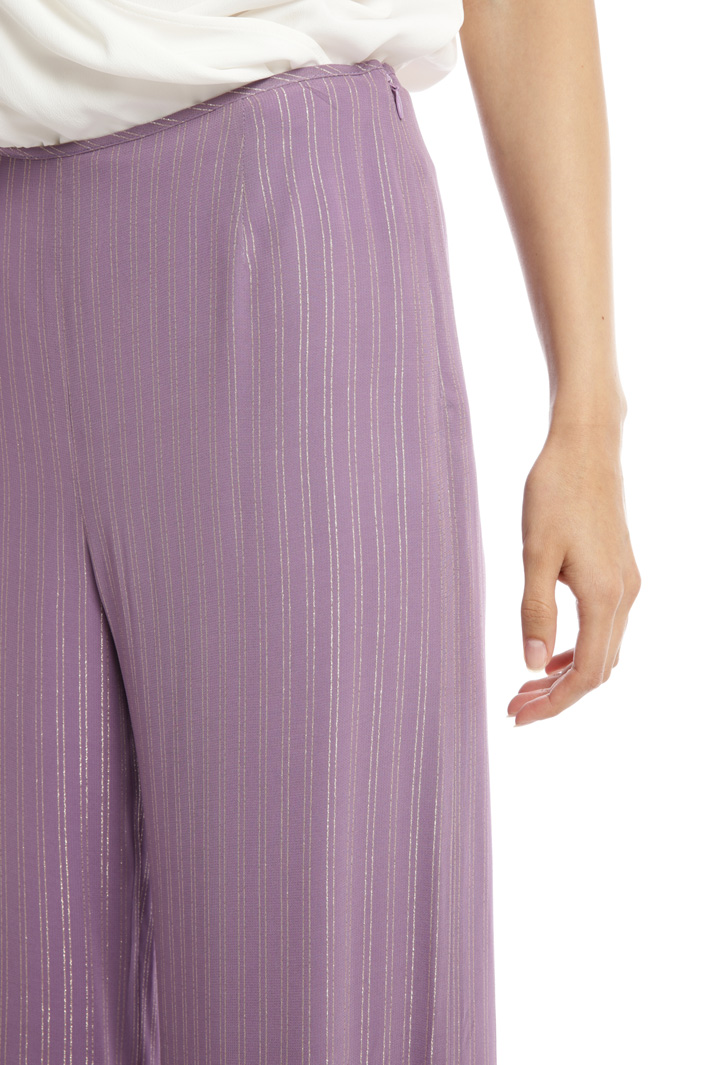 Lamé palazzo trousers Intrend