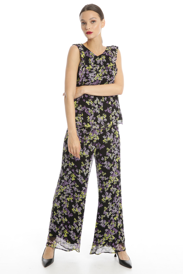 Floral print palazzo trousers Intrend