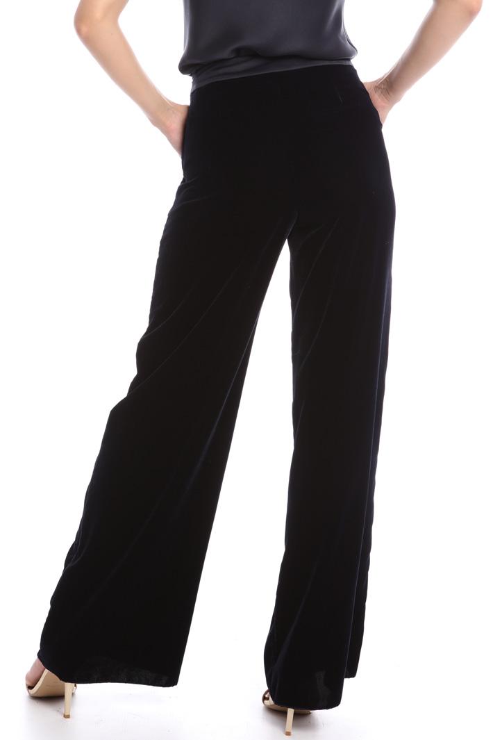 Pantaloni in velluto liscio Intrend