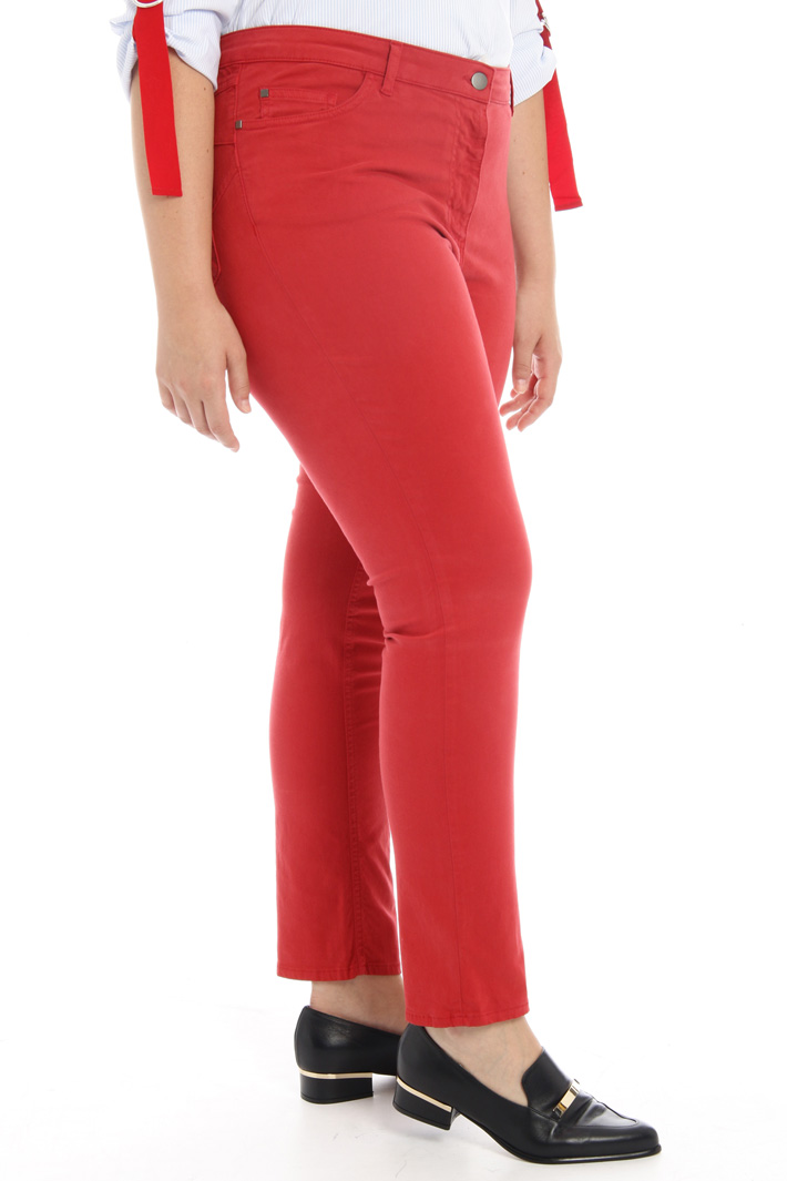 Stretch satin trousers Intrend