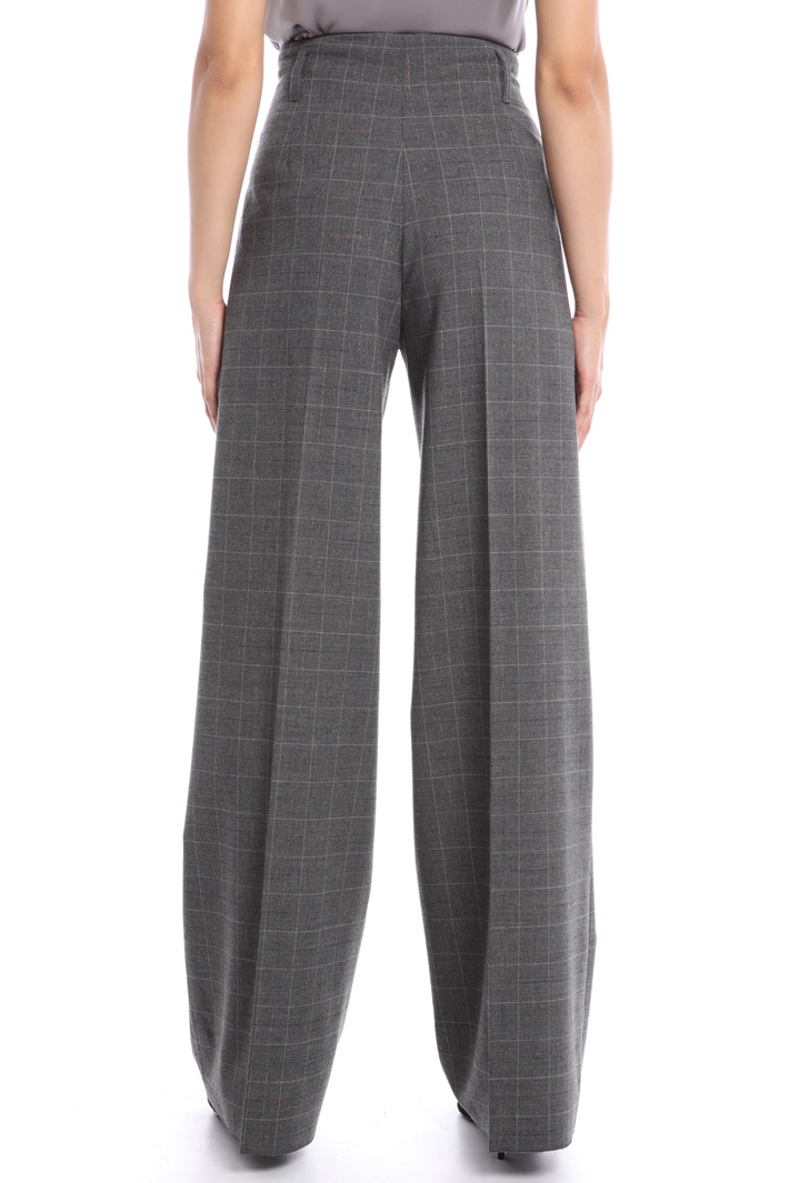 Wide leg lurex blend trousers Intrend