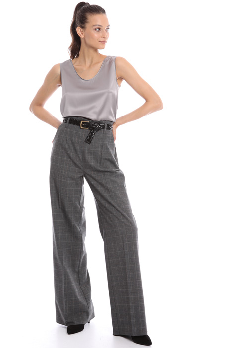 Wide leg lurex blend trousers Intrend