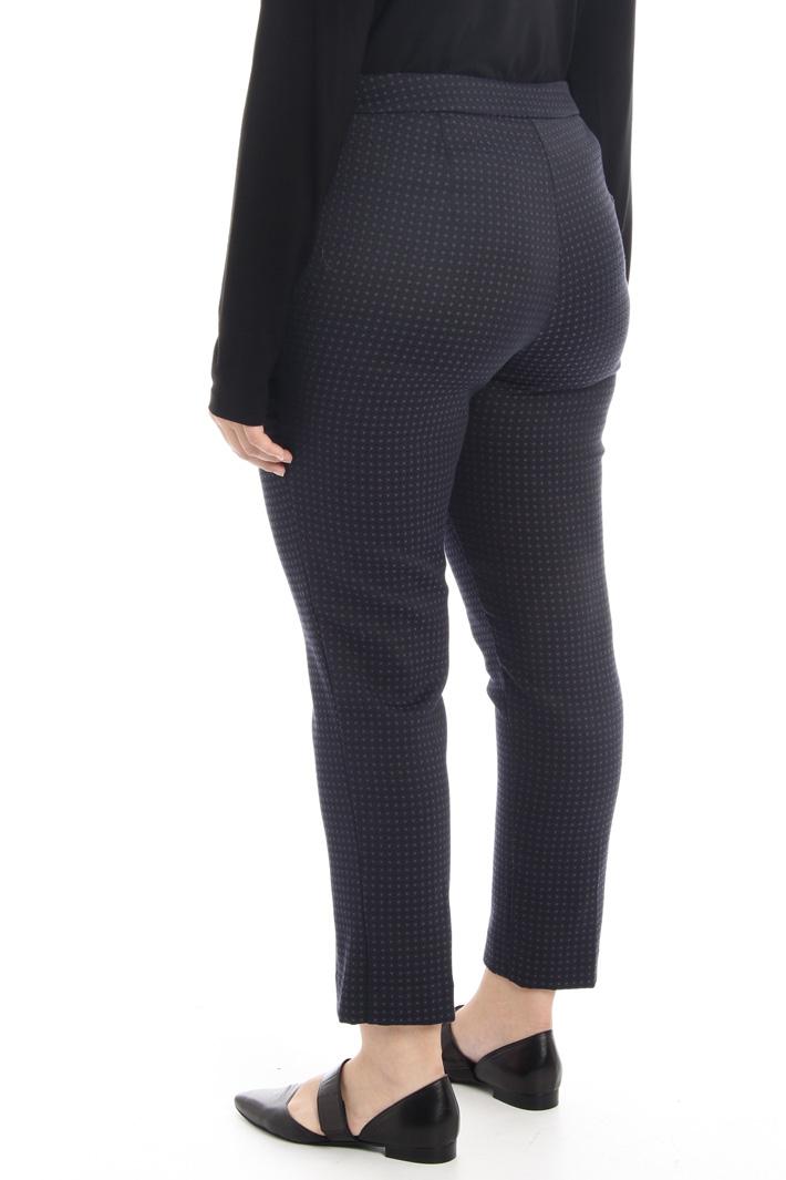 Stretch jacquard trousers Intrend