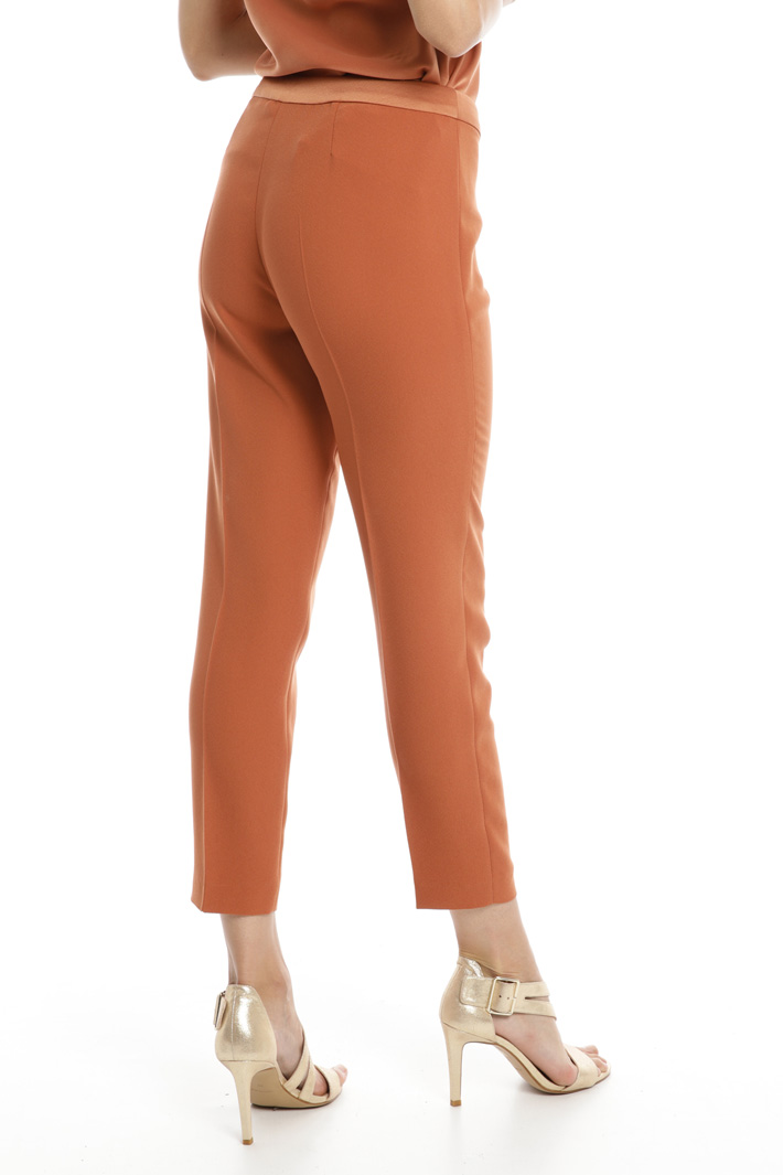 Slim fit envers satin trousers Intrend