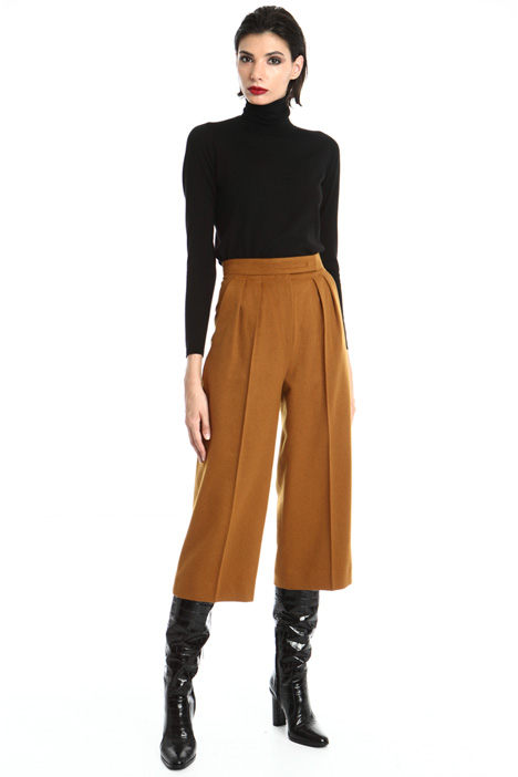 Crop camel trousers Intrend