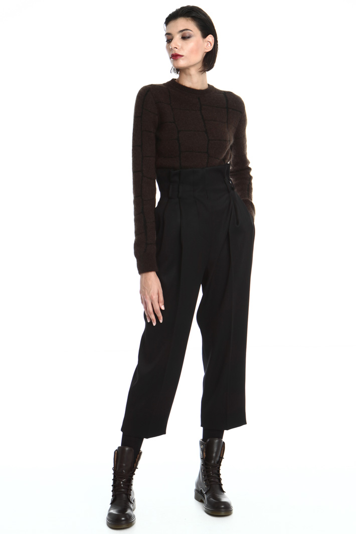 Wool satin trousers Intrend