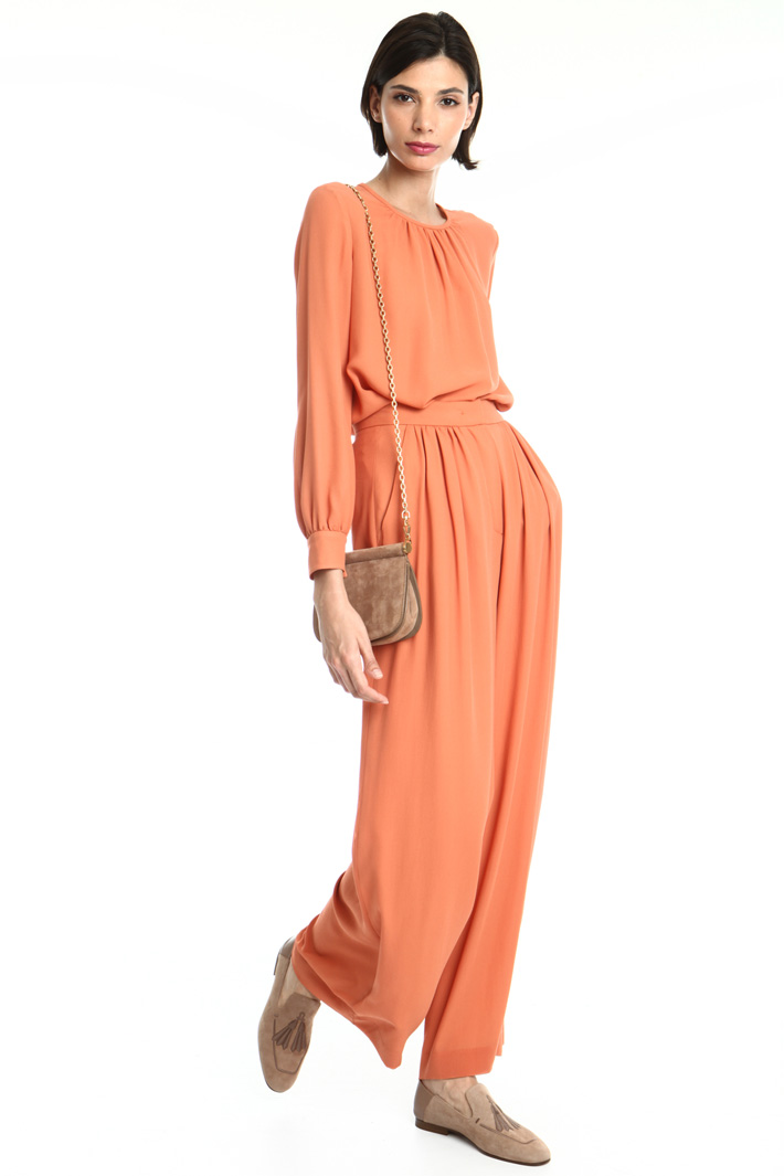 Silk georgette trousers Intrend