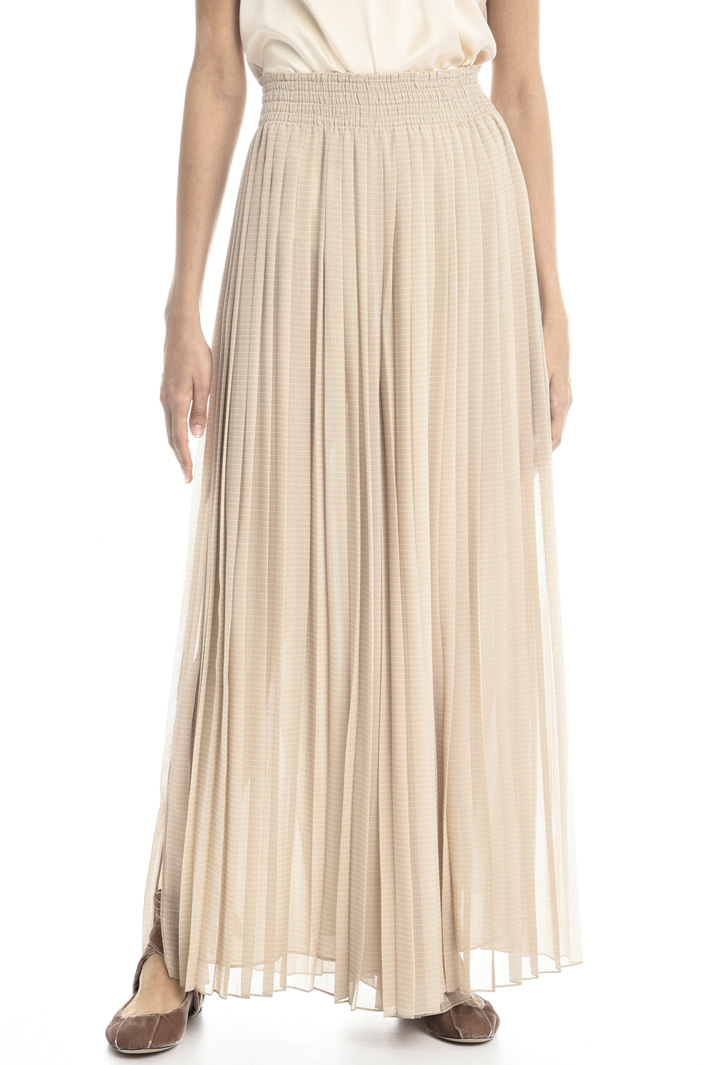 Pleated georgette trousers Intrend