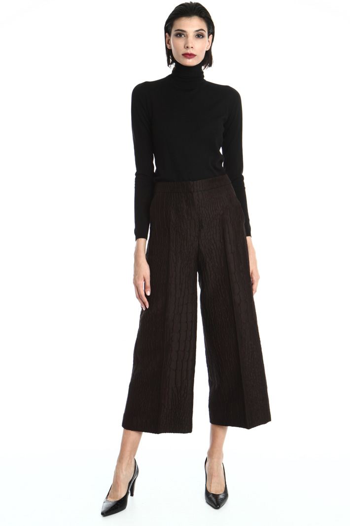 Jacquard wool trousers Intrend