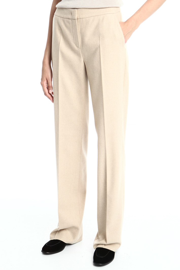 Camel and cashmere trousers Intrend
