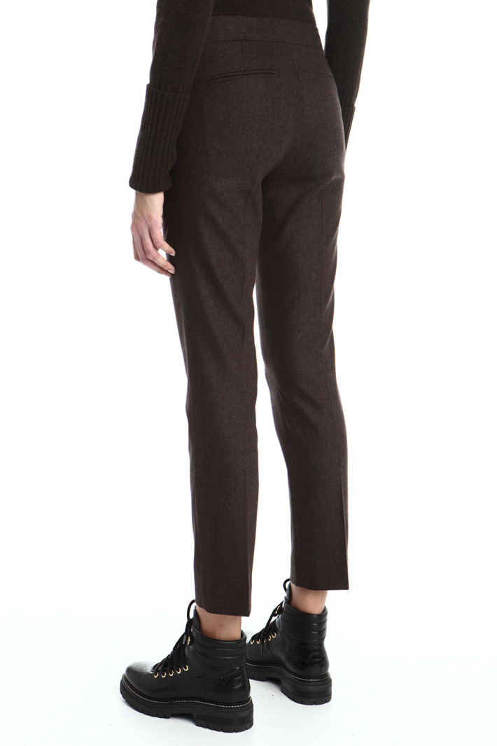 Wool cigarette trousers Intrend