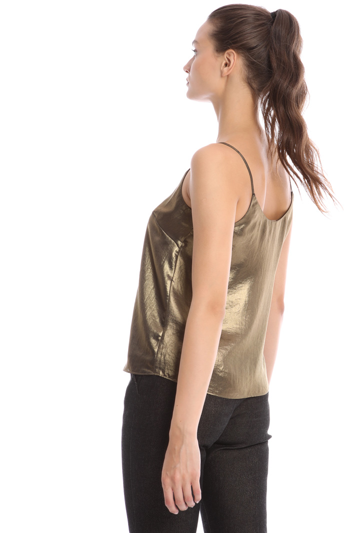 Laminated sleeveless top Intrend