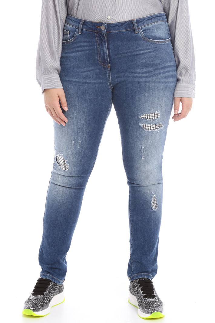Jeans with inserts Intrend