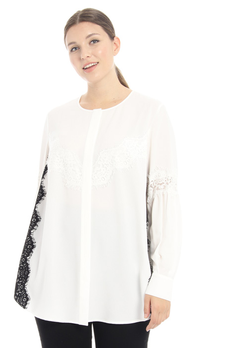 Lace and embroidered tunic Intrend