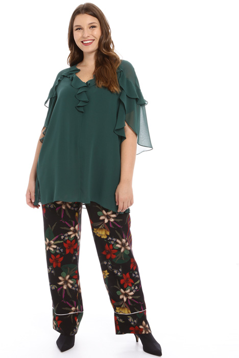 Flounced georgette tunic Intrend