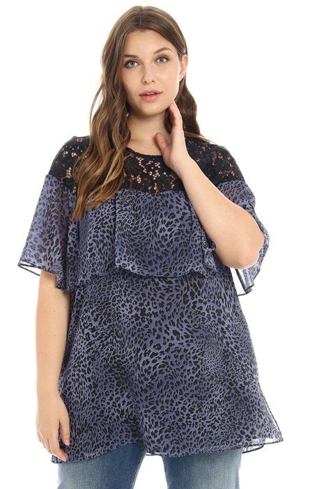 Georgette and lace tunic  Intrend