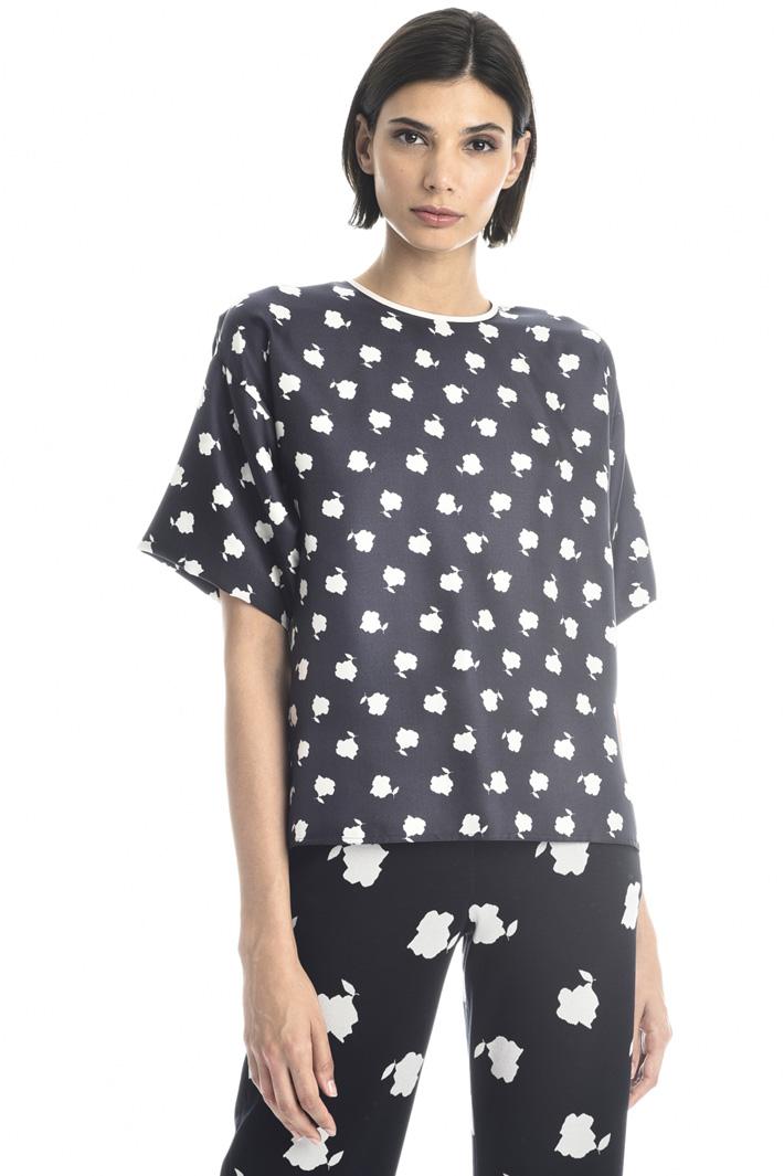 Silk twill T-shirt Intrend