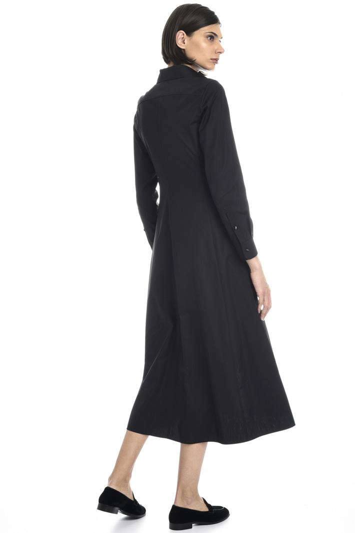 Sash cotton poplin dress Intrend