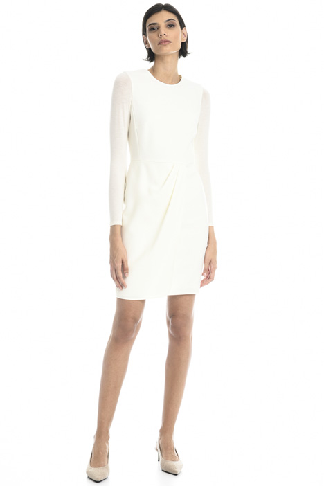 Sheath dress in wool Intrend