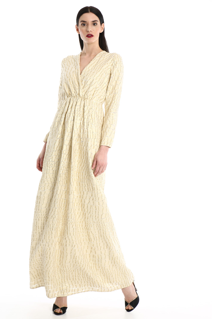 Long silk dress Intrend
