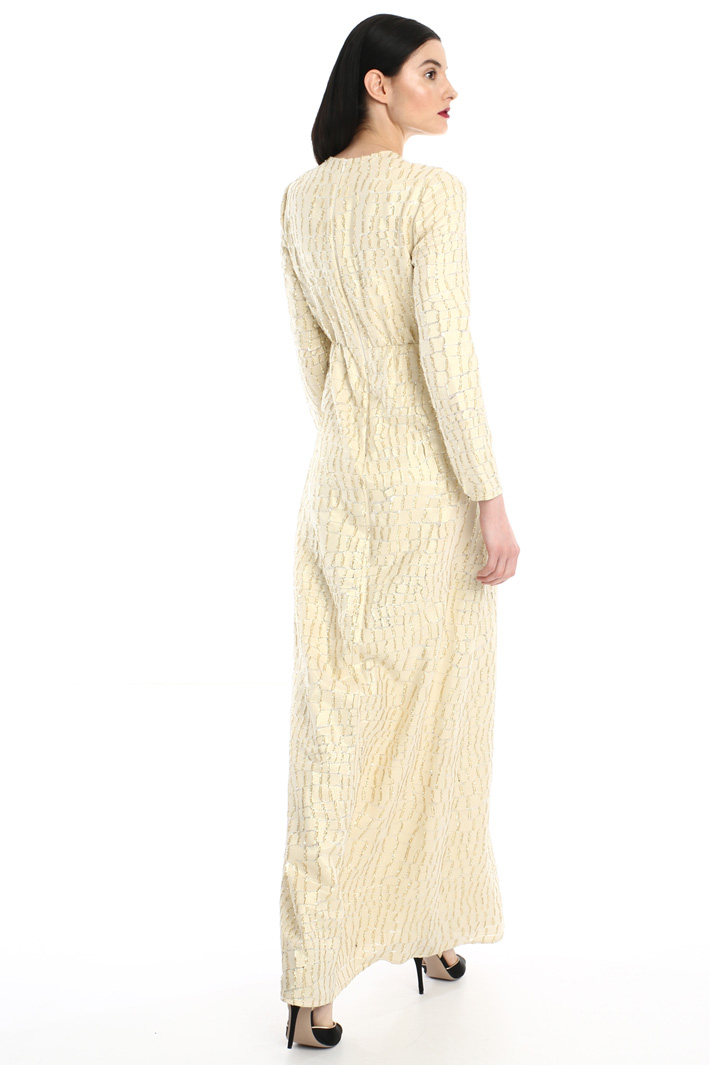 Long silk dress Intrend