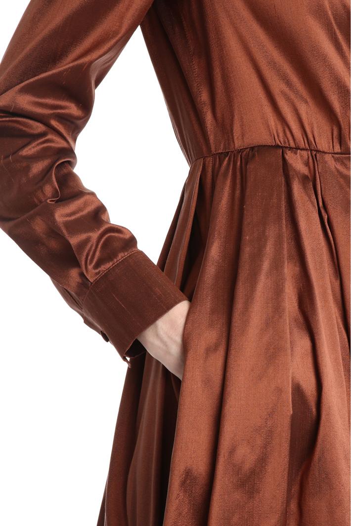Silk shantung dress Intrend