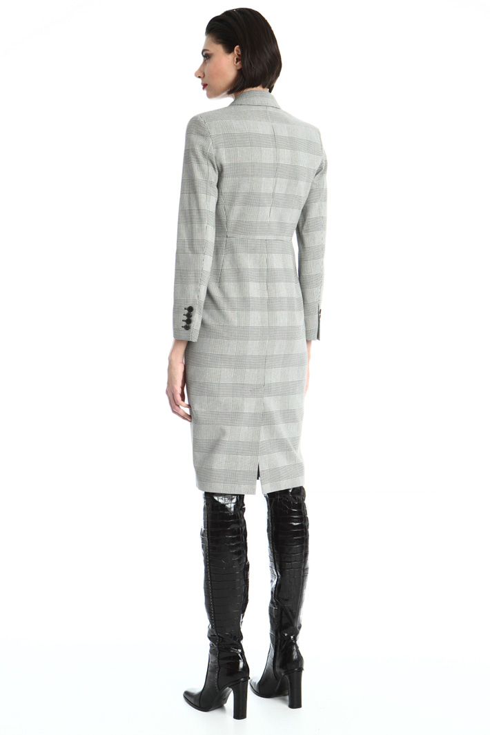 Double-breasted crepe dress Intrend
