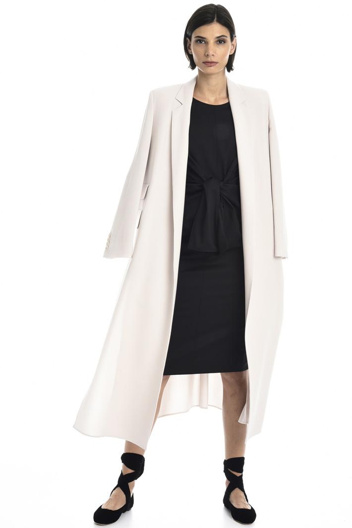 Wool twill sheath dress Intrend