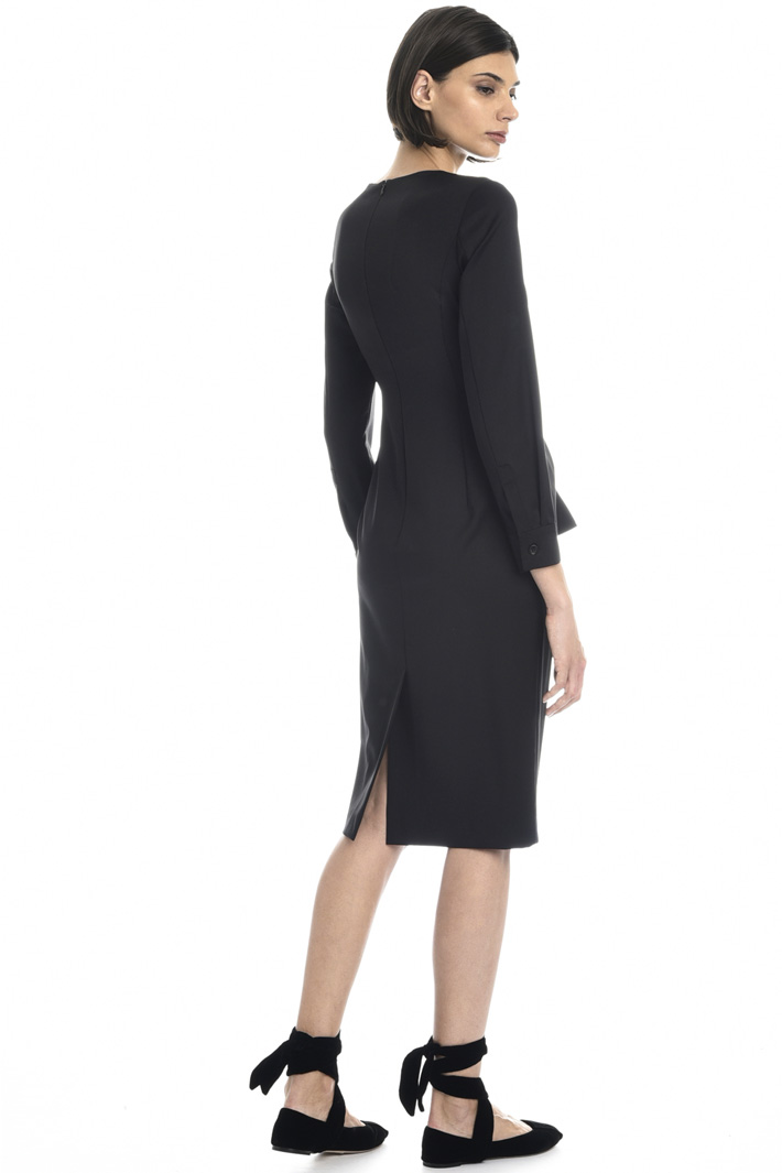 Wool twill sheath dress Intrend